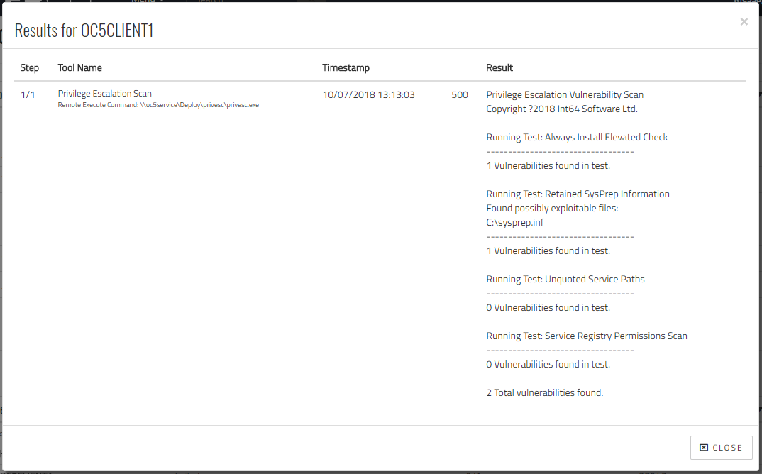 Overcee: PEVS Tool Results