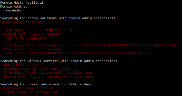 Free Domain Admin Scan Tool