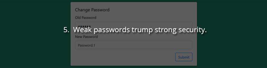 Weak passwords trump strong security