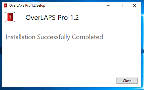 OVERLAPS Pro 1.2 Installation Completed