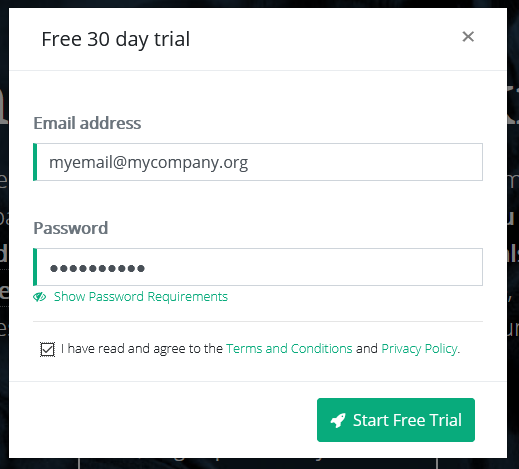 Trial Signup