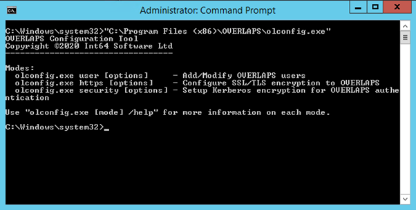 The olconfig.exe Command Line Tool