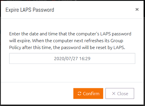 Specifying a Password Expiration Date and Time